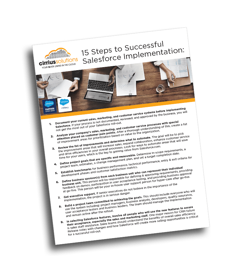15 Steps to a Successful Salesforce Implementation