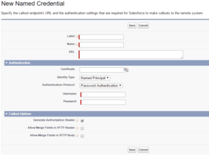 Adding a Named Credential